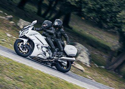 2016-Yamaha-FJR1300AE-EU-Matt-Silver-Action-005